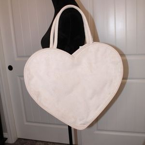 Brand New! Beautiful Oversized Suede Heart Bag